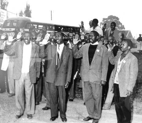 Leading The Positive Action Campaign, Robert Sobukwe in Orlando, 21st March 1960. (Source: Peter Magubane)
